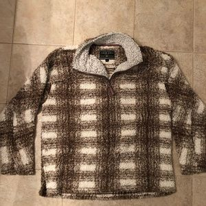 True Grit Pullover brown/white size M